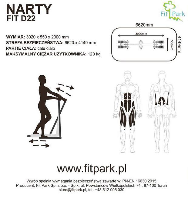 Narty FitPark, karta techniczna