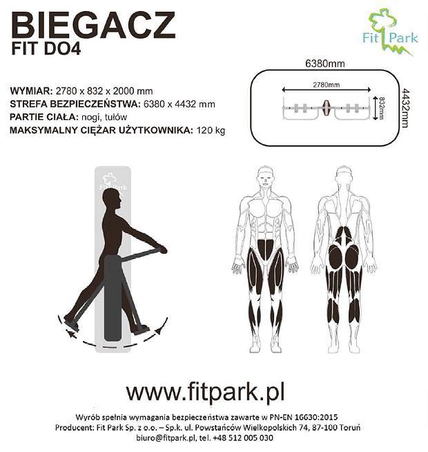 Biegacz do ćwiczeń Firmy FitPark